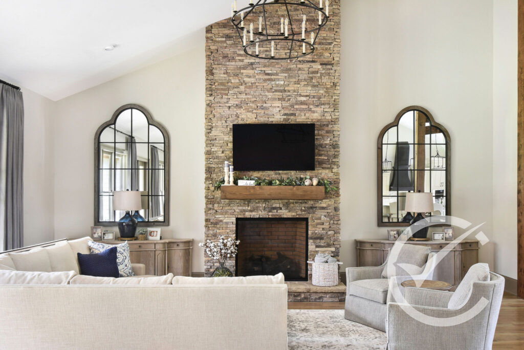 Great Room Fireplace Farmhouse Traditional